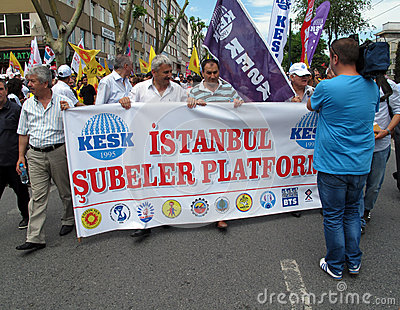 STRIKE IN TURKEY Editorial Photo