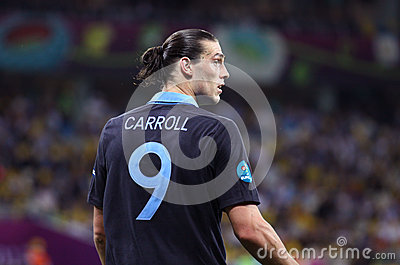 Striker Andy Carroll of England Editorial Stock Photo