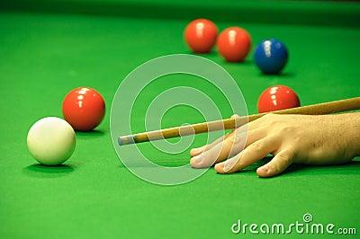 Striking the cue ball