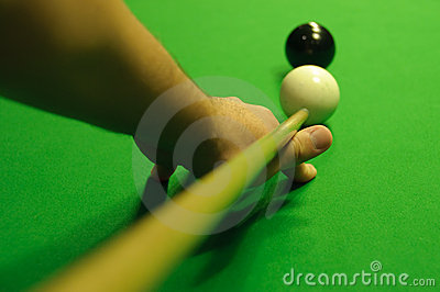 Striking the cue ball