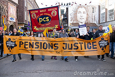 Striking public sector workers march Editorial Photography
