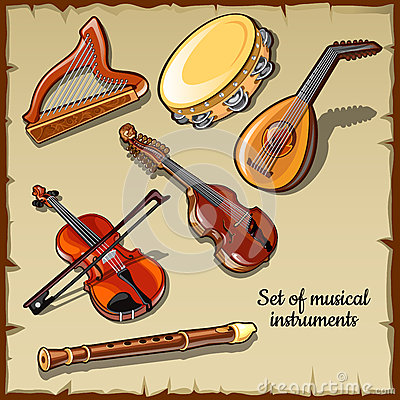 Free String And Wind Musical Instruments, Six Icons Stock Photos - 62738873