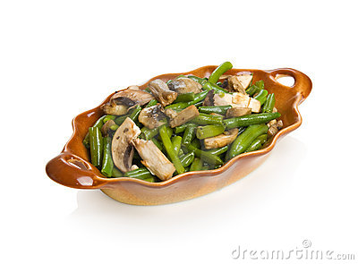 String beans with champignons