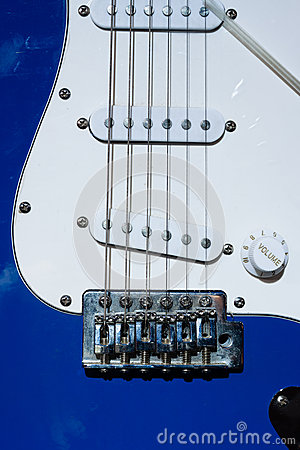 String and Knob of  Electric guitar