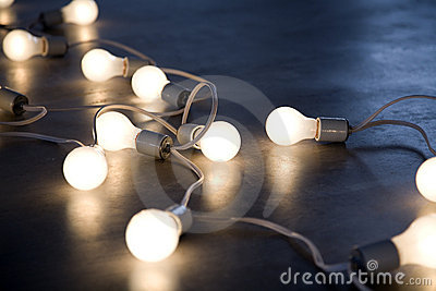 String of lightbulbs