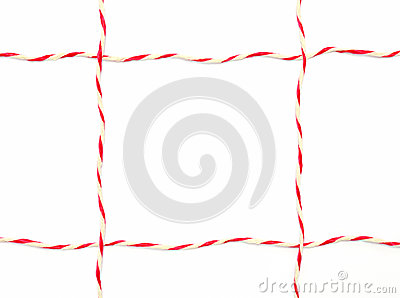 String red and white as frame