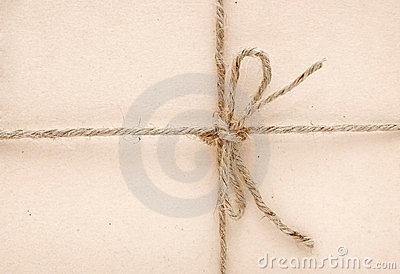 String tied in a bow