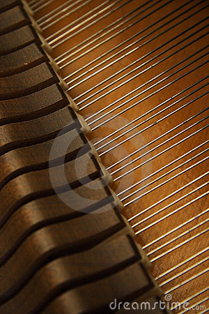 Free Strings And Hammer Inside A Piano Royalty Free Stock Photo - 3860845