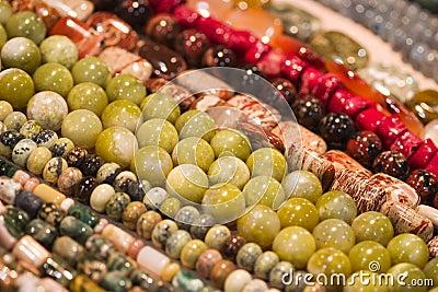 Strings of beads make cool pattern