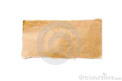 Strip of Brown Packaging Paper