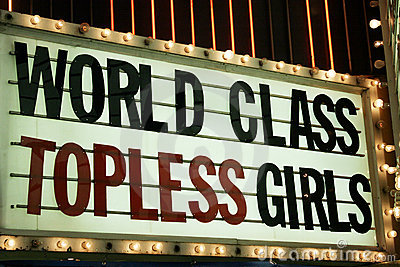 Strip club neon lights Editorial Stock Photo