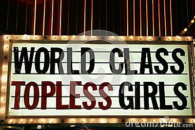 Strip club neon lights Editorial Photo