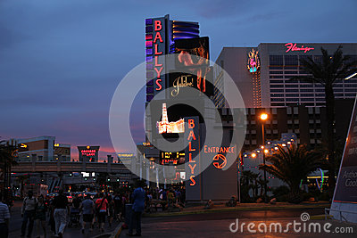 On the strip at dusk Editorial Photography