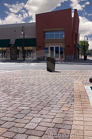 Free Strip Mall - Corner Store Restaurant Stock Image - 819541