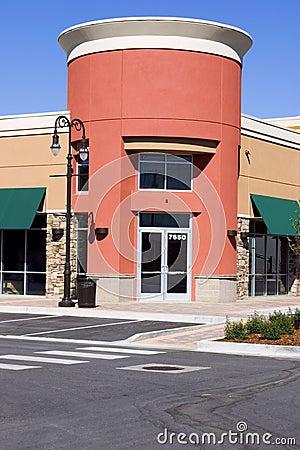 Free Strip Mall - Corner Store Restaurant Stock Image - 819551