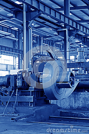Strip and mechanical equipment in a factory