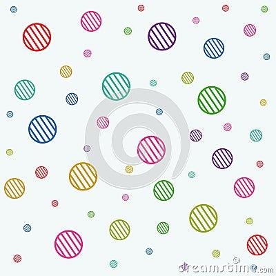 Stripe circles texture