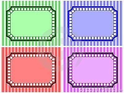 Stripe and Dot Frame Set