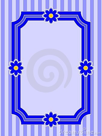 Stripe and Flower Frame
