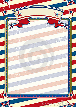 Striped american poster