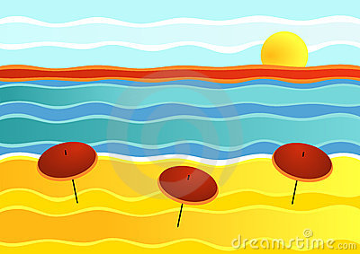 Striped Beach Landscape