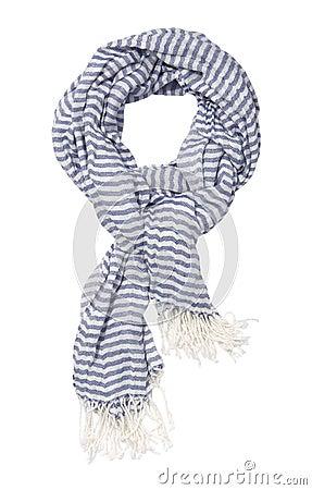 Striped blue scarf