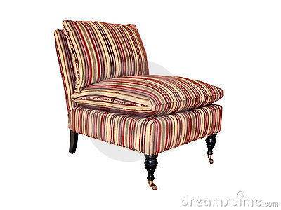 Striped chair isolated 2