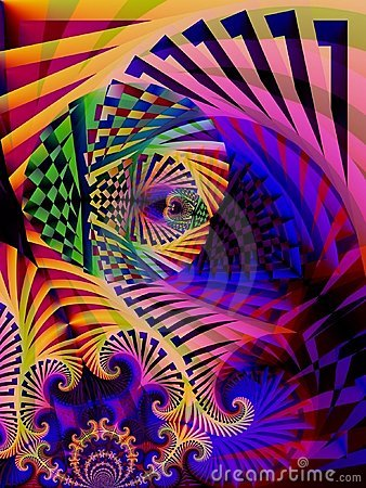 Striped Colors Abstract Art