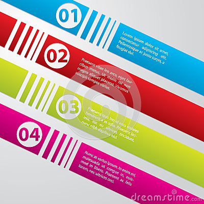 Striped commercial label set