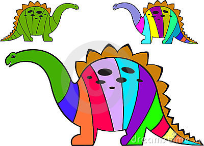 Striped dinosaurs