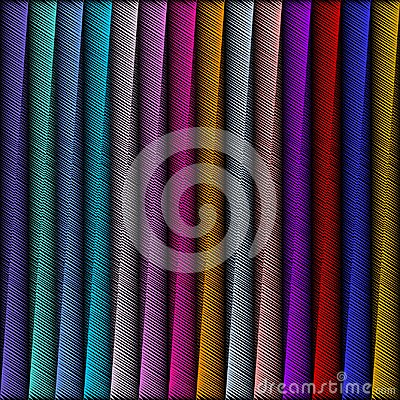 Free Striped Embroidery 3d Geometric Seamless Pattern. Vector Abstrac Royalty Free Stock Photo - 117537935