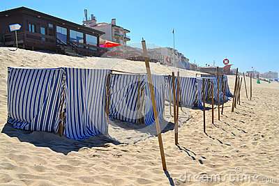 Striped Fabric Beach Tents