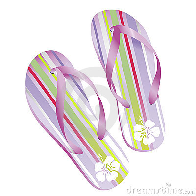 Striped flipflops