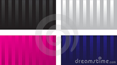 Striped glossy visit card