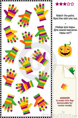 Striped gloves visual puzzle