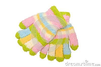 Striped mitten