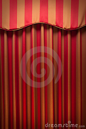 Striped red and gold curtains stock image image 10708971 for Red and gold drapes