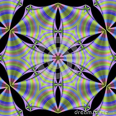 Free Striped Silk Mandala Stock Photography - 6174972