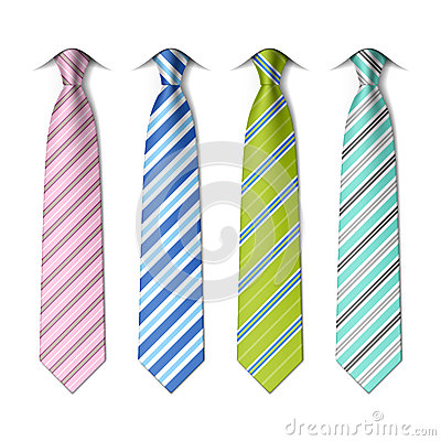 Free Striped Silk Ties Template Royalty Free Stock Image - 41417216