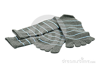 Striped Toe Socks Royalty Free Stock Images - Image: 27398399