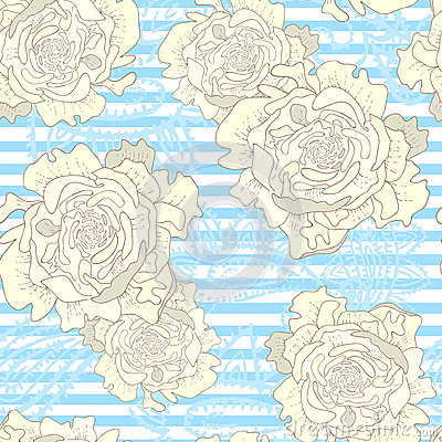 Striped vintage seamless pattern