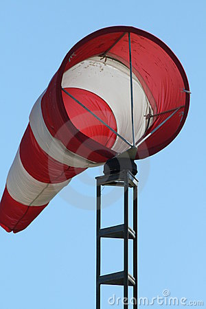 Striped windsock
