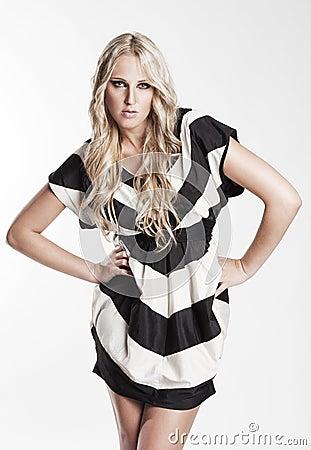 Striped woman
