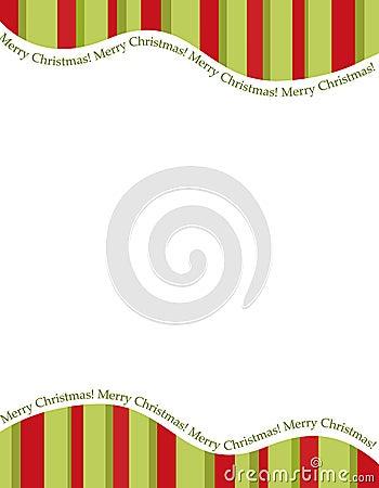 Free Stripes Christmas Frame Royalty Free Stock Photo - 11474595