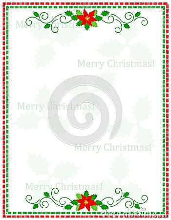 Stripes christmas frame