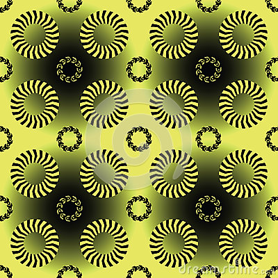 Stripes and circles pattern