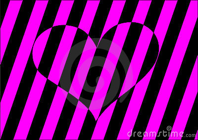 Stripes heart
