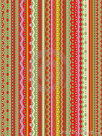 Stripes and laces seamless pattern