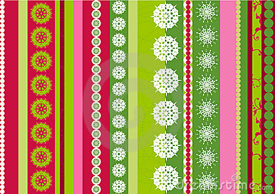 Stripes snowflake designs