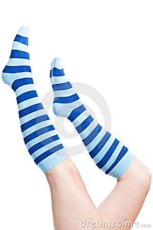 Stripes socks legs